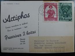 CARTE POSTALE _ CPA Vintage COLORISEE : PUB Publicité ACTIPHOS Labo BELLON / Taormina ITALIE // CPA.L.PUB.102.15 - Publicité