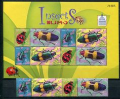 Thaïlande    Coléoptères    2240/2243 ** + Bloc 209 ** - Insectes