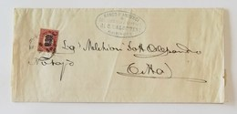 Scritto Da Brescia Per Città Affrancato Con 0,30 Sovrastampa 2c - 1861-78 Vittorio Emanuele II