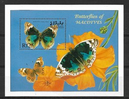MALDIVES MALDIVAS 2000 BUTTERFLIES  MNH - Schmetterlinge