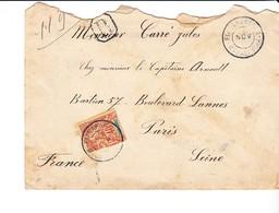 Lettre Madagascar Fianarantsoa Puis Tananarive Vers France 1900 Recommandé - Autres