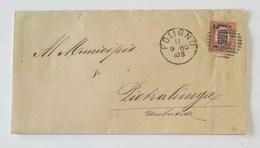 Corrispondenza Foligno-Pietralunga - 11/09/1880 Affrancata Con 0,05 Sovrastampa 2c - 1861-78 Vittorio Emanuele II