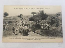 CPA MAROC - EL MERADA - 1103 - Rencontre Des Deux Courriers Dans L'oued Telagh Entre DGHISSA Et MERADA - Autres
