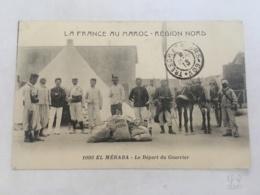 CPA MAROC - EL MERADA - 1095 - Le Départ Du Courrier - Autres