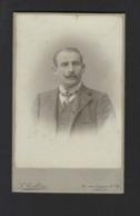 CDV * MAN MET SNOR * HOMME AVEC MOUSTACHE * FOTO L. COLLIN * RUE LONGUE DE SEL ALOST * AALST * 1900 1910 - Personnes Anonymes