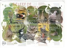 """Nederland 2020, Blok BELEEF DE NATUUR"""" Echt Gelopen Op Papier, Prachtig Gestempeld - Blocs"""
