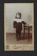 CDV * MEISJE * PETITE FILLE * FOTO BERNARD WILLEMSEN * HOPMARKT AALST * 1905 1910 - Personnes Anonymes