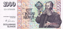 ICELAND P. 59 1000 K 2001 UNC - IJsland