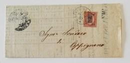 Corrispondenza S.Severino Marche-Appignano - 19/11/1881 Affrancata Con 10,00 Sovrastampa 2c. - 1861-78 Vittorio Emanuele II