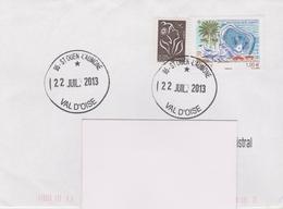 France, Curiosité, Cachet Du Conseiller Financier Du Bureau De Poste De Saint Ouen L'Aumone), Sur Lettre De 2013.. - Manual Postmarks