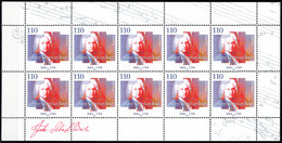 GERMANY 2000, MUSIC, 250 Years After The DEATH Of COMPOSER JOHANN BACH, 10 MNH SETS In SMALL SHEET And GOOD QUALITY*** - [7] Repubblica Federale