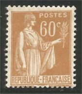 333 France Yv 364 Paix 60c Bistre MH * Neuf CH Très Légère (364-1a) - Unused Stamps
