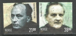 Noorwegen 2018, Yv 1921-22, Reeks,  Hoge Waarde, Gestempeld - Norvège