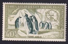 TAAF 1956-59 - YT PA N°2 - 50 F. - Faune - Manchots Empereurs (Terre Adélie) - NEUF** - TTB Etat - Unused Stamps