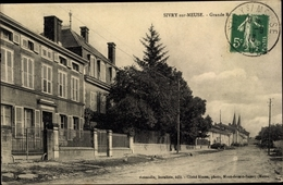 Cp Sivry Sur Meuse, Grande Rue - France