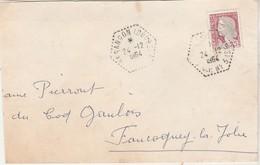 Enveloppe 1964 / Cachet Octogonal Pointillé Besançon CP N° 3 ( Chemin Postal) / 25 Doubs - 1961-....