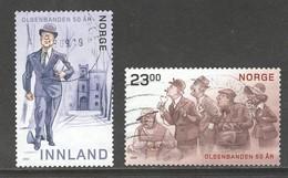 Noorwegen 2019, Yv 1934-35, Reeks,  Hoge Waarde, Gestempeld - Norvège