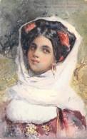 GRECE Greece - CORFOU Corfu : Paysanne De GASTOURI ( Peasant Woman Bäuerin Contadina ) CPA Illustration - Griechenland - Grèce