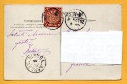Storia Postale Su Cartolina, Yunnan (Cina) Francobollo 4 Cent. Drago - Cartas