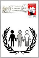LUCHA CONTRA LA SEGREGACION RACIAL - NO APARTHEID - NO SEGREGATION. Mexico DF 1976 - Stamps