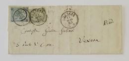 Scritto Brescia-Verona - 17/05/1865 - Storia Postale