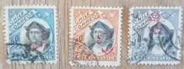 Chili - Timbres Service - Christophe Colomb Surcharge Ancre - 1907 - Oblitérés - Cile