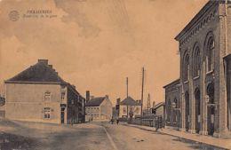 Frameries (Hainaut) Extérieur De La Gare - Frameries
