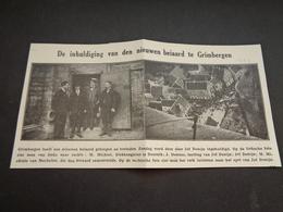"""Origineel Knipsel ( 3520 ) Uit Tijdschrift """" Ons Volk """" 1929 :  Grimbergen - Non Classés"""