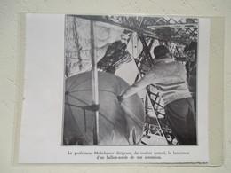 Arctique (arctic) - Laché Ballon Sonde Emetteur TSF D'un Dirigeable Graf Zeppelin - Coupure De Presse De 1931 - Radio & TSF
