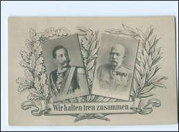 U3967/ Kaiser Franz Josef + Kaiser Wilhelm 1. Weltkrieg  Foto AK Ca.1914 - Royal Families