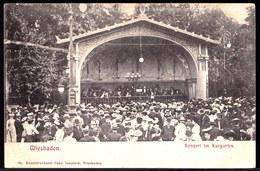SELTEN !! * WIESBADEN  - KONZERT IM KURGARTEN **gelaufen Nach CHALONS SUR MARNE In 1904 - Wiesbaden