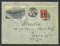 JURA / Enveloppe Illustrée J. DAVID - LORGE / ST CLAUDE SUR BIENNE 1908 - Poststempel (Briefe)