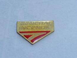Pin's GENERAL INCENDIE - Feuerwehr