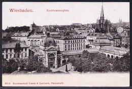 SELTEN !! * WIESBADEN  - KOCHBRUNNENPLATZ ** Gelaufen Nach CHALONS SUR MARNE In 1904 - Wiesbaden