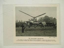 """Meeting D'Angleterre (Hendon) Helicoptère """"Autogire""""  - Coupure De Presse De 1931 - Elicotteri"""