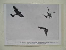 """Meeting D'Angleterre (Hendon) Helicoptère """"Autogire""""  Et  Pterodactyl IV    - Coupure De Presse De 1931 - Elicotteri"""