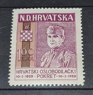 NDH EXILE- HRVATSKI OSLOBODILAČKI POKRET, ANTE PAVELIĆ 1959. MNH - Kroatië