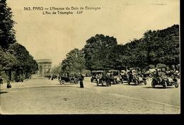 Paris 1924 Av Bois Boulogne - Tacots - Transport Urbain En Surface