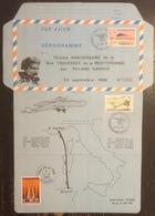 France - Aérogramme - 75 ème Anniversaire De La 1ère Traversée De La Méditerranée Par Roland Garros - 1988 - Poststempel (Briefe)