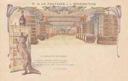 FECAMP Carte Publicitaire Mr De La Fontaine à La BENEDICTINE - Fécamp
