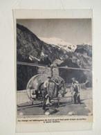 CANADA Kitimat  - Helicoptère  D'équipelent De Pylones Haute Tension   - Coupure De Presse De 1954 - Elicotteri