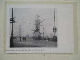 Pont Alexandre III Paris  - Démonstration Helicoptère Autogyre  - Coupure De Presse De 1934 - Elicotteri