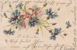 AK Blumen Mit Schleife - Künstlerkarte - 1901 (48804) - Fleurs