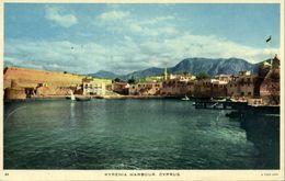 Cyprus, KYRENIA, Harbour Scene (1961) Raphael Tuck 64 Postcard - Chypre
