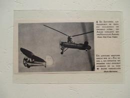 Hélicoptère Autogyre Militaire  - Coupure De Presse De 1935 - Elicotteri