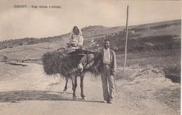GIRGENTI-AGRIGENTO-RUPE ATENEA E COSTUMI-CARTOLINA NON VIAGGIATA -ANNO 1906-1915 - Agrigento
