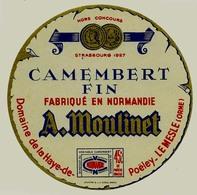 Etiquette Camembert  A. MOULINET  Le Mesle Orne  Neuve 112mm - Fromage