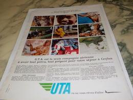 ANCIENNE PUBLICITE CEYLAN  ET   UTA 1967 - Advertenties