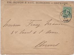 N° 30 Enveloppe De Em. Royon & Aug. Borgers - Ostende 1881 - 1869-1883 Leopold II