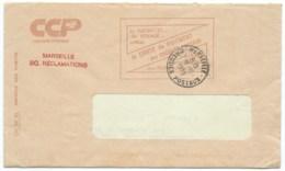 ENVELOPPE / CACHET MARSEILLE CHEQUES POSTAUX  / 1979 / BO RECLAMATIONS AVEC CORRESPONDANCE - 1961-....